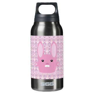 Pink bunny insulated water bottle