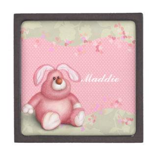 Pink Bunny Jewelry Box