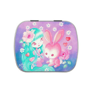 Pink Bunny Love Jelly Belly Tins