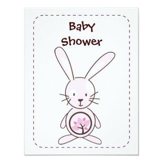 Pink Bunny Organic Planet Invitations