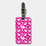 Pink Bunny Pattern Tag For Luggage