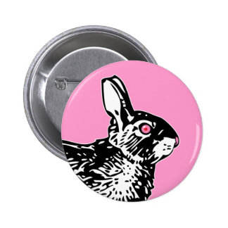 Pink Bunny Pinback Button