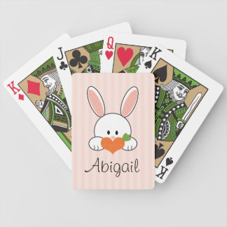 Pink Bunny Rabbit Bicycle® Playing Cards