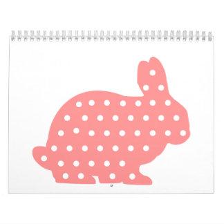 Pink Bunny rabbit Calendar