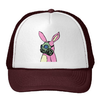 Pink Bunny Rabbit Gas Mask Trucker Hat