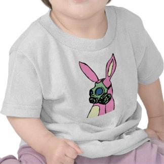 Pink Bunny Rabbit Gas Mask T Shirt