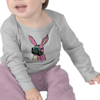 Pink Bunny Rabbit Gas Mask Tee Shirts