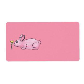 Pink Bunny Rabbit. Label