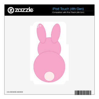 Pink Bunny Rabbit iPod Touch 4G Decal