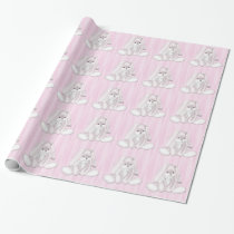 Pink Bunny Rabbit Wrapping Paper