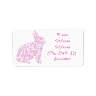 Pink Bunny Return Address Labels