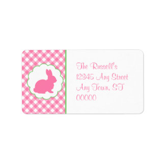 Pink Bunny Silhouette Label