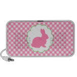 Pink Bunny Silhouette Notebook Speakers