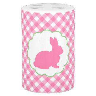 Pink Bunny Silhouette Soap Dispenser