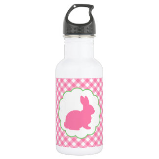 Pink Bunny Silhouette Water Bottle