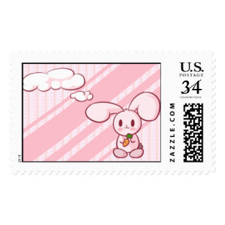 Pink bunny stamp large