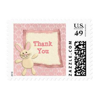 Pink Bunny Thank You Postage