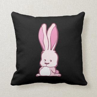 Pink Bunny Throw Pillow