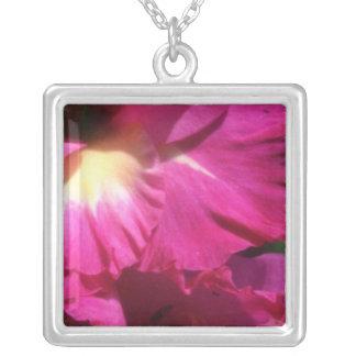 Pink Burgandy beauty flowers Pendants