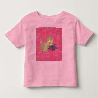 Pink Burn Out Pattern Peace Love Destiny Art Toddler T-shirt