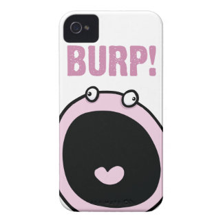 Pink Burp Monster Funny Girls iPhone 4 Cover