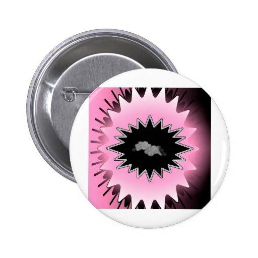 Pink Burst 2 Inch Round Button
