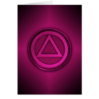Pink Burst Sober Sobriety Recovery AA Card