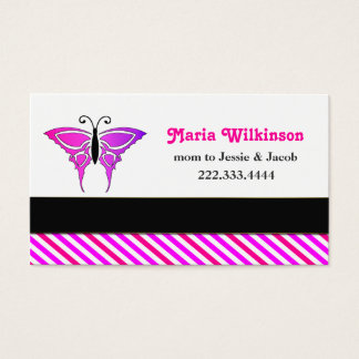 Pink Burtterfly Mommy Card