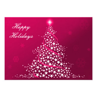 pink Business Holiday Flat cards Custom Invite