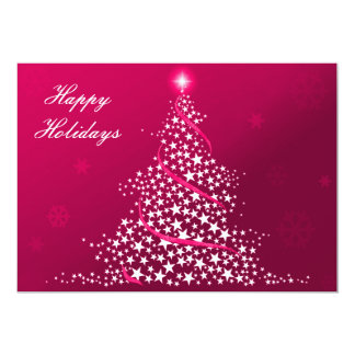 """pink Business Holiday Flat cards 5"""" X 7"""" Invitation Card"""