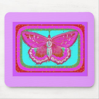 Pink Butterfl y&  Aqua Gifts by Sharles Mouse Pad