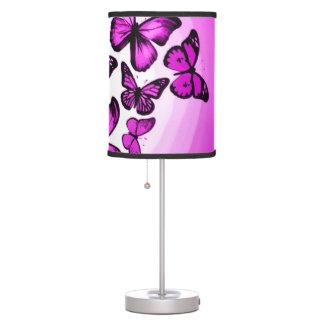 Pink Butterflies Airbrush Art Desk Lamps