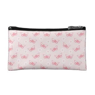 Pink Butterflies Makeup Bags
