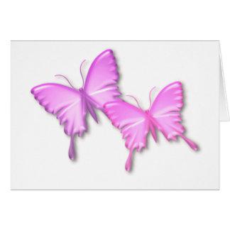Pink Butterflies Design Card