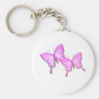 Pink Butterflies Design Keychain