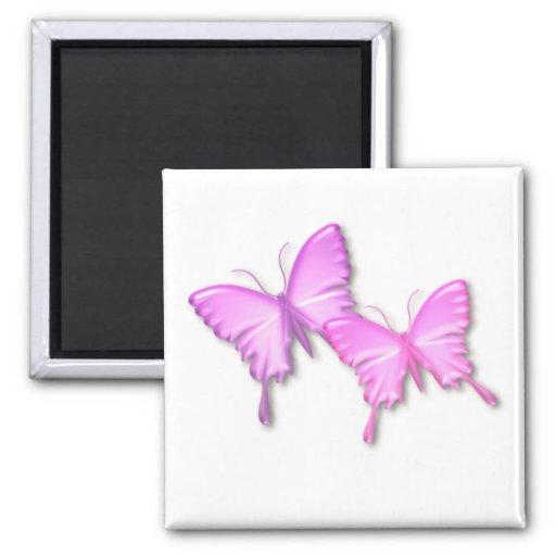 Pink Butterflies Design Magnet