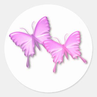 Pink Butterflies Design Sticker