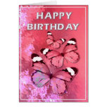 Pink butterflies greeting cards