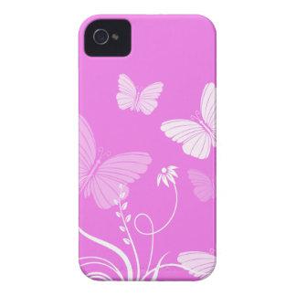 Pink butterflies iPhone 4/4S Case