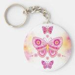 Pink Butterflies Key Chains