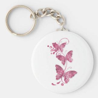 pink butterflies key chain