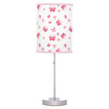 Pink Butterflies Lamp