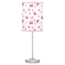 Pink Butterflies Lamp