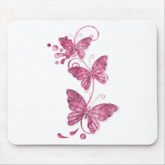 pink butterflies mouse pad