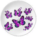 Pink Butterflies Plate