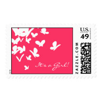 Pink Butterflies Postage
