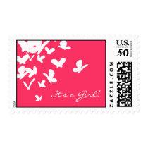 Pink Butterflies Postage