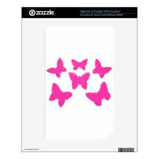 Pink Butterflies NOOK Color Skin