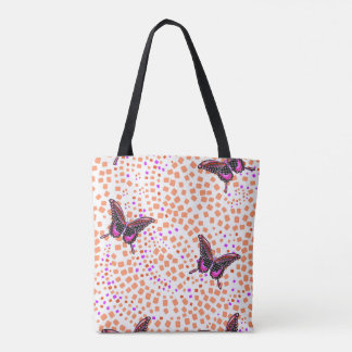pink butterfly 30. tote bag