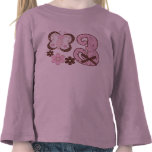 Pink Butterfly 3rd Birthday Shirts